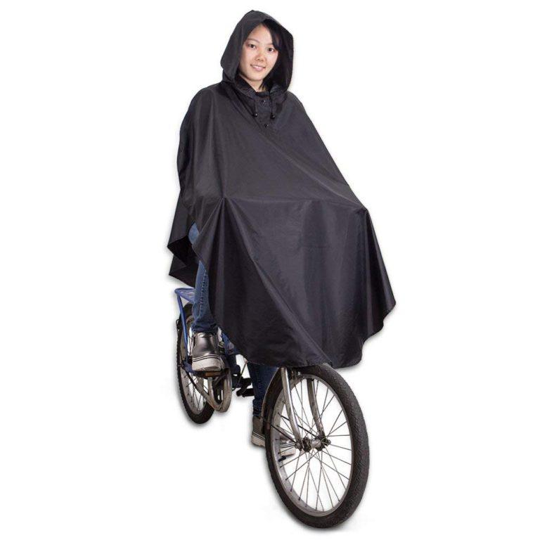 【CV】 自転車用 レインコート 軽量 約160g 後部反射材 収納ポーチ付き